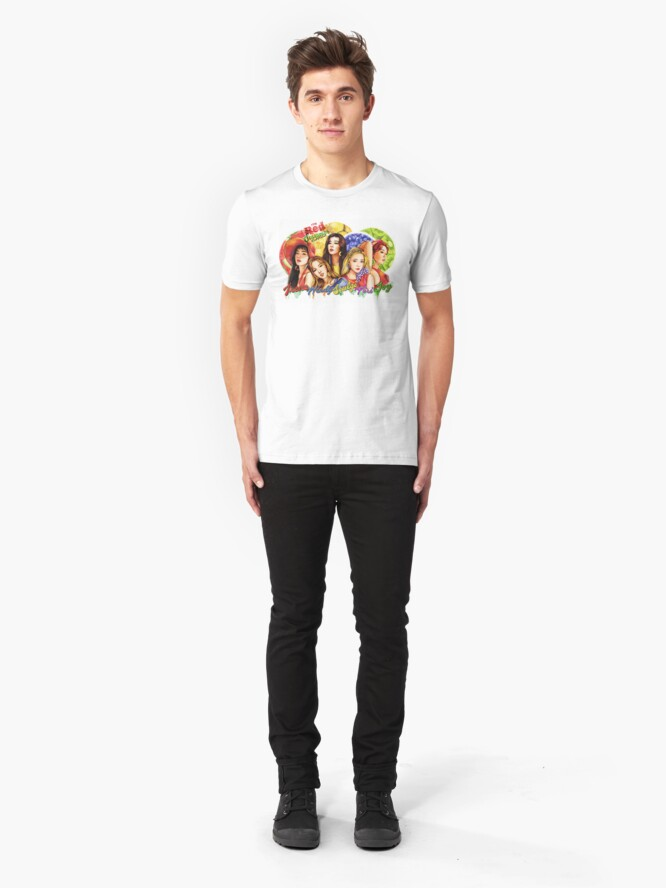 """Alternative Ansicht von Roter Samt """"Roter Sommer"""" Slim Fit T-Shirt"""