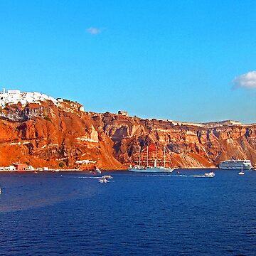 Santorini Cliffs by tomg