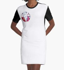 MUDDY WHAT? Logo Aquarell T-Shirt Kleid