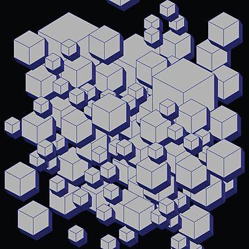 3D Futuristic Cubes by uniqueD