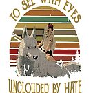 Mononoke Hime to see with eyes unclouded by hate shirt by Caitlin123123
