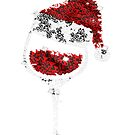 Rhinestone Wine Glasses with Santa Christmas sweater by Caitlin123123