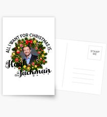 All I want for Christmas is Hugh Jackman Postcards