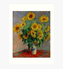 Monet - Sunflowers Art Print