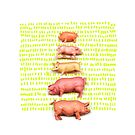 Stack of pigs on the green green grass of home by VrijFormaat