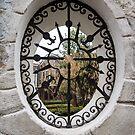 Through the Lacy Garden Window -  by Georgia Mizuleva