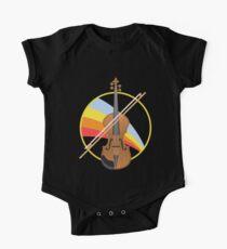 Body de manga corta para bebé Instrumento de cuerda de violonchelo