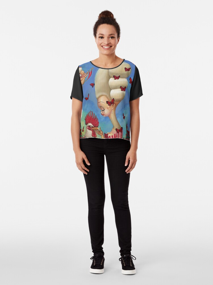 Alternate view of COCK-A-DOODLE Chiffon Top