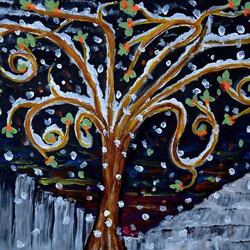 Tree in winter by ditempli