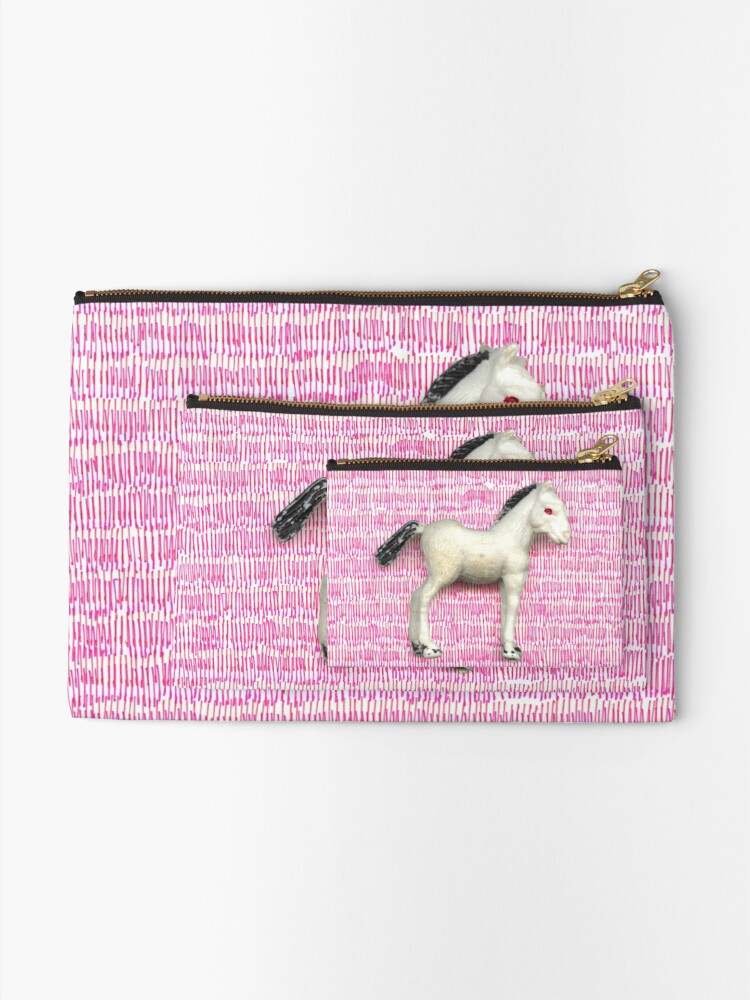 Alternate view of My little foal in a sea of pink Zipper Pouch