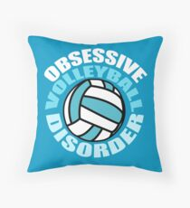 Funny Obsessive Volleyball Disorder Throw Pillow