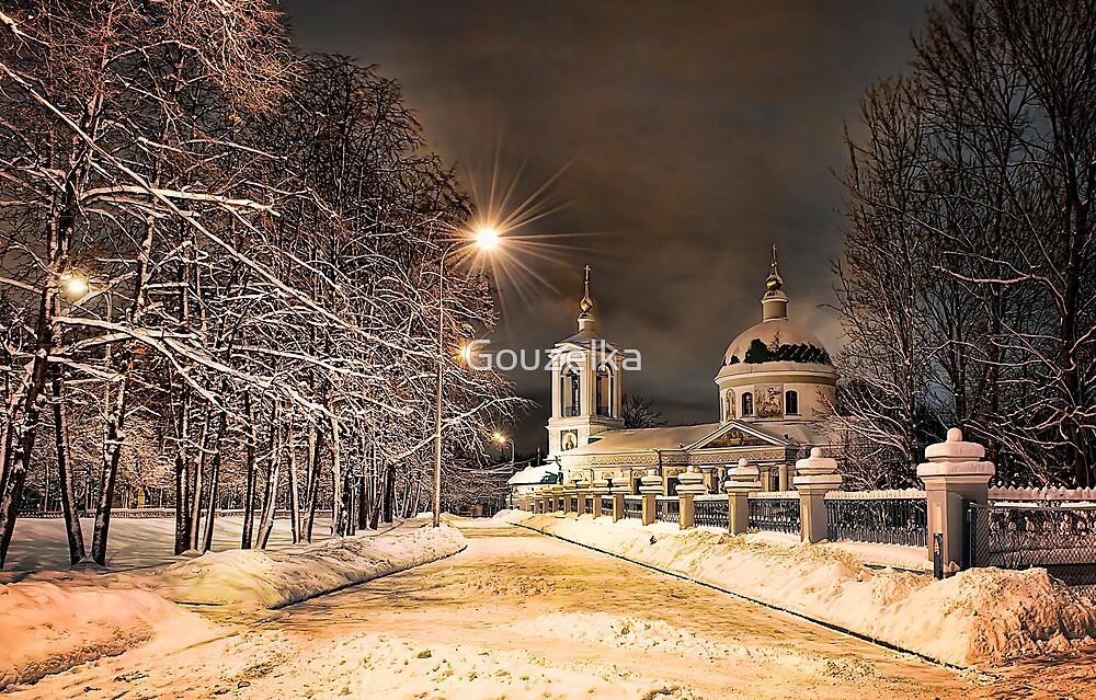Winter Church by Gouzelka