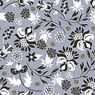 victorian floral | slate gray  by camcreativedk