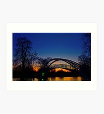 Sunset by the Bedford Bridge (U.K.) Art Print