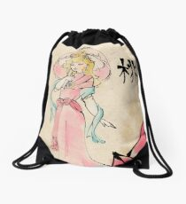 Princess Peach of the Mushroom Dynasty  Drawstring Bag
