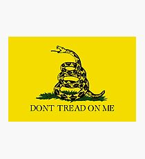 The Gadsden Flag - Don't Tread On Me Photographic Print