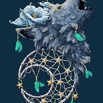 Dreamcatcher Moon Wolf by DVerissimo