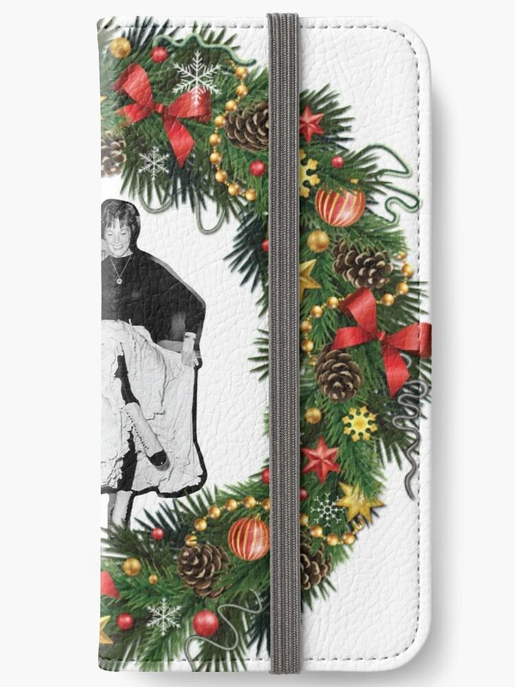 Christmas Reef.Dick Van Dyke And Julie Andrews In A Christmas Reef Iphone Wallet By Betty Burns