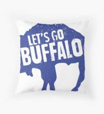 Let's Go Buffalo II Throw Pillow