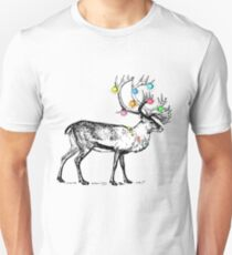 Christmas decorated deer Unisex T-Shirt