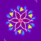 Purplefloral drops by Joan Marie Flaherty