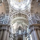 Germany. Munich. Theatine Church. Interior. Altar and Dome. by vadim19