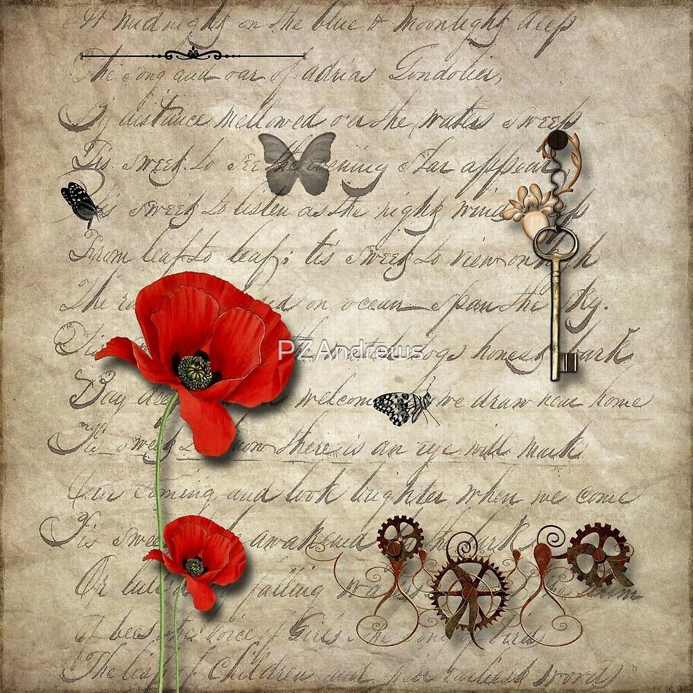 Vintage Poppies by PZAndrews