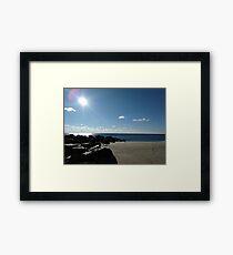 Jetty on Ocean Grove Beach New Jersey Framed Print