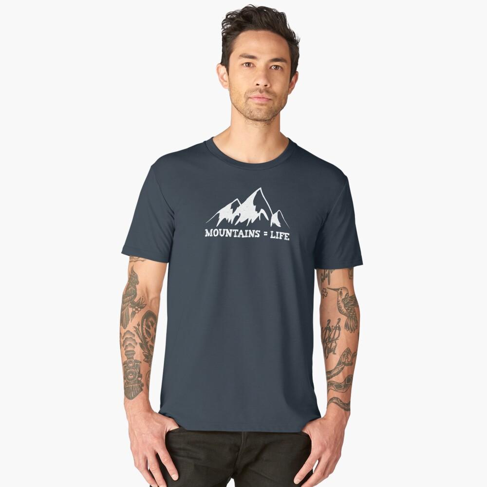 Mountains = life Men's Premium T-Shirt Front