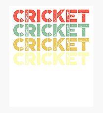 vintage cricket - retro cricket  Photographic Print