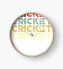 vintage cricket - retro cricket  Clock