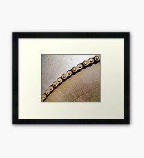 Chain & Sprocket Framed Print