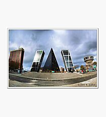 Madrid. Plaza de Castilla. Photographic Print