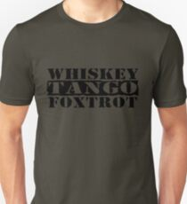 Camiseta ajustada WTF ?! WHISKY TANGO FOXTROT