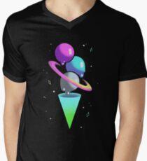 Galactic Ice Cream Cone Men's V-Neck T-Shirt