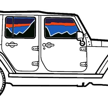 Jeep Mountains and Sunset Unique by IntrepiShirts