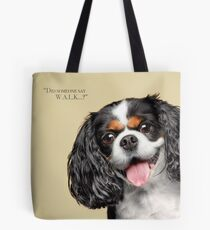 Curious and Cute Cavalier King Charles Spaniel Tote Bag