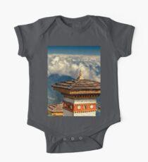 a historic Bhutan landscape One Piece - Short Sleeve