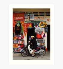 peoplescapes #133, banners anyone! Art Print