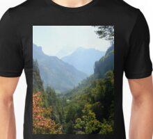 a historic Bhutan landscape Unisex T-Shirt