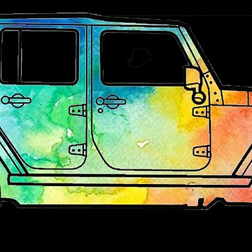 Unique Tie Die Watercolor Jeep by IntrepiShirts