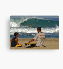 First Surf Lesson Canvas Print