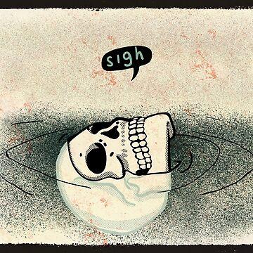 Skull Sigh by carlhuber