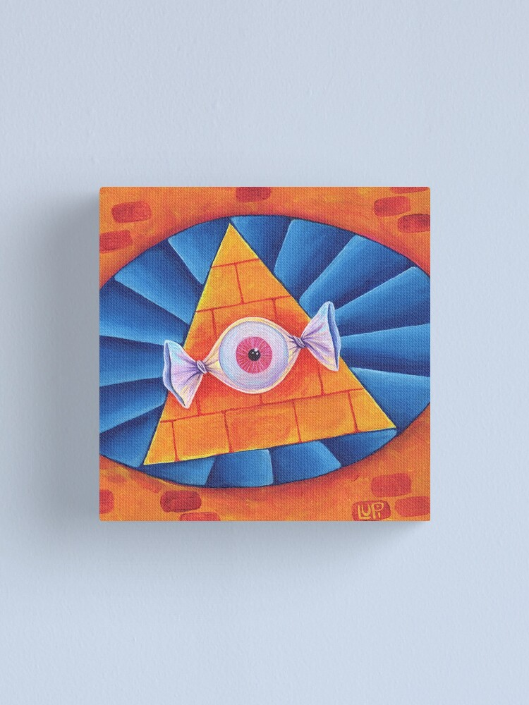 Alternate view of The All-Seeing Eye Candy Canvas Print