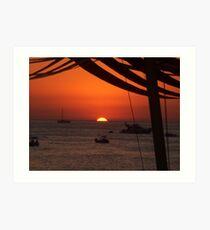 Baleric Sunset Art Print