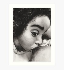 Nursing toddler Art Print