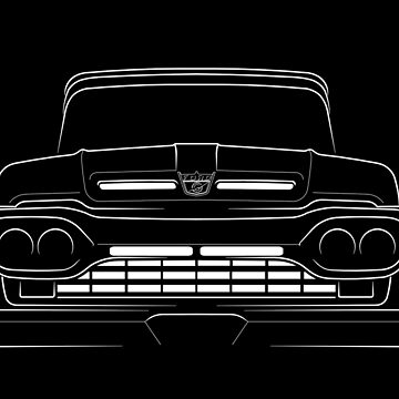 1960 Ford F-100 - front stencil, white by mal-photography