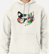 Hipster calico kitty cat Pullover Hoodie