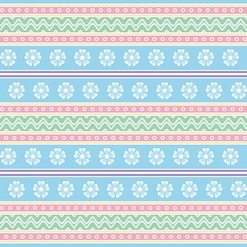 Easter Floral Pattern A by MelFischer