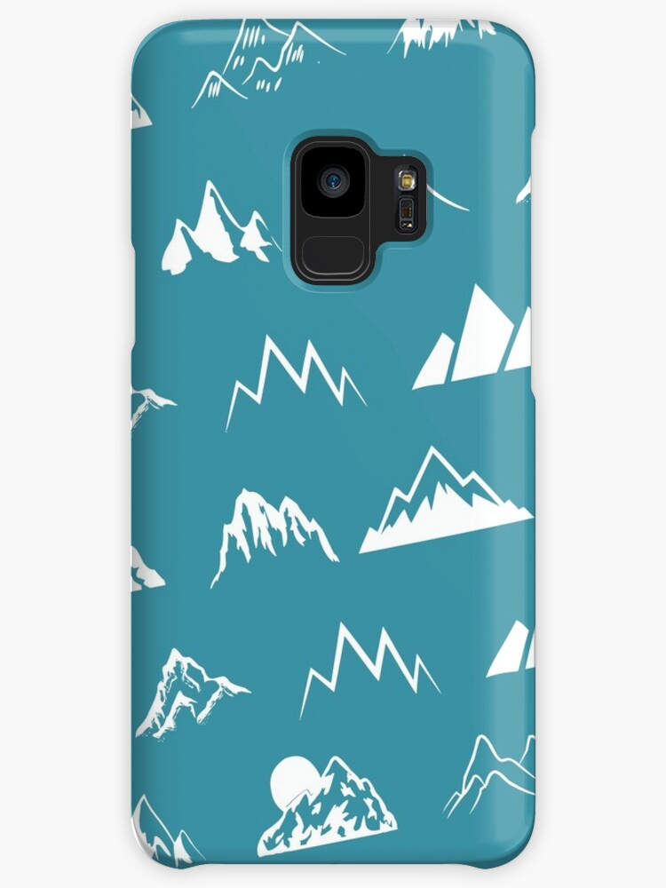 Mountains all over - turquoise by AlexaDesign